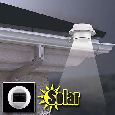 Solar Powered LED Light Security Bright Outdoor Waterproof