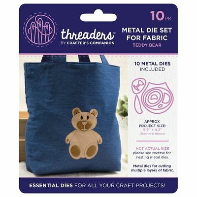 Threaders - Mixed Media Metal Card + Fabric Die Set - Cute Teddy Bear