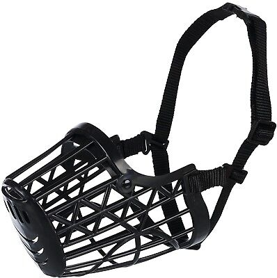Trixie Plastic Dog Muzzle With Snout Nylon Strap, 26 Cm, Large, Black