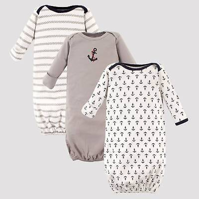 Luvable Friends Baby Boys' 3pk Cotton Nightgown Set - Blue 0-6M