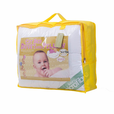 WINTER WARM NURSERY BABY 9 TOG DUVET QUILT+PILLOW FOR COT/COTBED SIZE 120x150cm