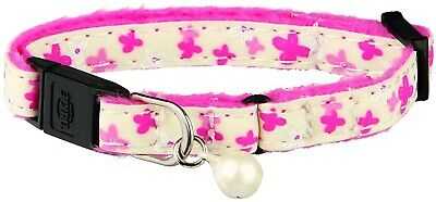 Trixie Glow In The Dark Kitten Plush Cat Collar, Pack Of 4