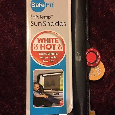 Safe Fit•Safe Temp Car Window Sun Shades For Baby or Child