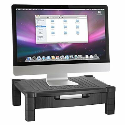 Halter LZ-302A Monitor Stand / Monitor Riser with Pull Out Drawer and Cable M...