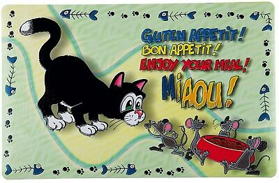 Trixie Cat Enjoy Your Meal Print Place Mat, 44 X 28 Cm, Pack Of 1