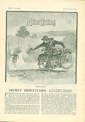 Motor Cycling Magazine 1914 Thrilling Stories Told by Wounded Motorcyclists
