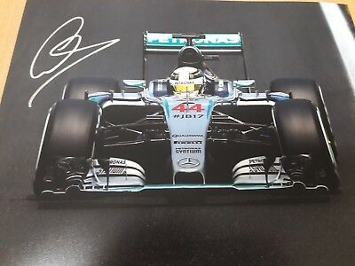 Lewis Hamilton Signed Photo in Silver - Mercedes