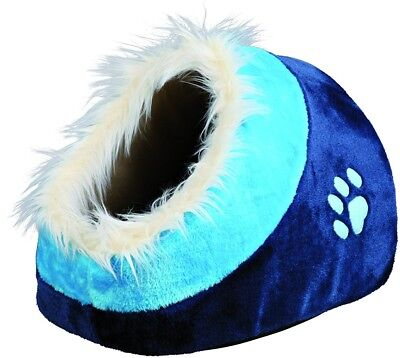 Trixie Minou Cuddly Cat /Dog Cave, 35X26 41cm, Dark Blue/Blue