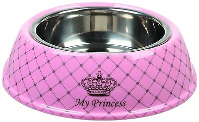 Trixie My Princess Melamine/Stainless Steel Combi-Bowl, 0.25 Litre, Pink
