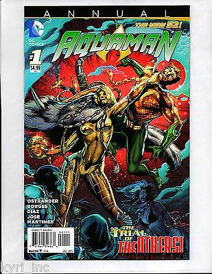 AQUAMAN ANNUAL #1 2013 1st PRINT TRIAL OF THE OTHERS NEW 52 DC COMICS B4