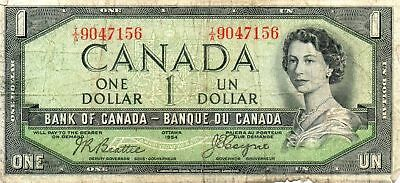 1954 Bank of Canada Devil`s Face $1