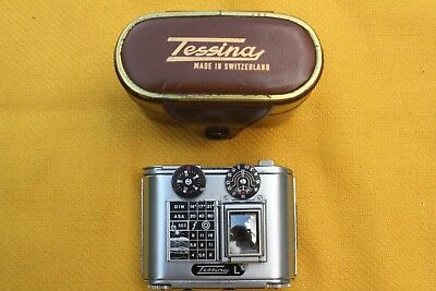 Concava Tessina L Subminiature 35mm Spy Camera with Fitted Leather Case.
