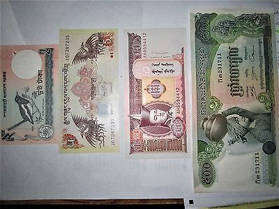 World Currency Lot of 18 (plus 1 FREE!) Genuine Banknotes! (P8) FREE SHIP!