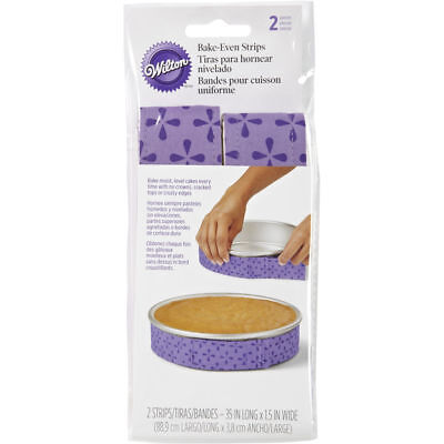 Wilton 2 Piece Bake-Even Strip Set - 35 Inches Long x 1 ½ Inches Wide