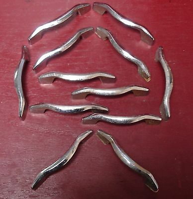 Authentic Chrome Art Deco Mid-Century Kit. Or Medical Cabinet Drawer Handles #0
