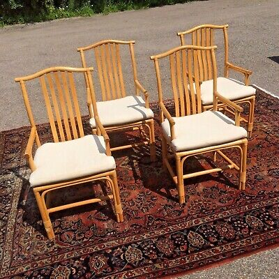 Set of 4 High Quality Bamboo Chairs