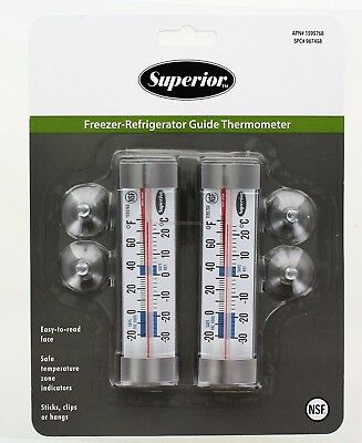 Taylor Precision Superior Freezer Refrigerator Guide Thermometers, NSF