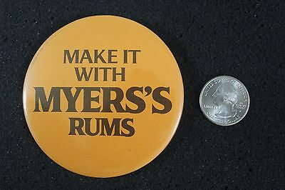 Make It With Myers's Rums Alcohol Hat Lapel Pinback Button BB1138