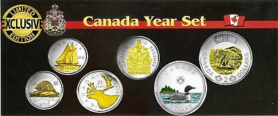 2016 Canadian Year Set Plated Rhodium with Selective Gold 24k