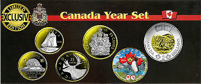 2016 Canadian Year Set Plated Gold 24k with Selective Rhodium