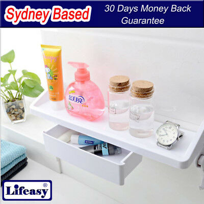 Suction cup Shelf with Drawer  Kitchen Bathroom