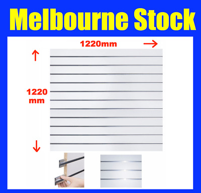 NEW SLATWALL SLAT WALL PANEL SHOP SHELF DISPLAY BOARD WALLS  122 (W)x122cm (H)