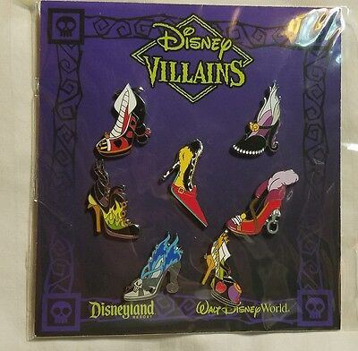 Disney Pins VILLAIN SHOES ~ HIGH HEELS Booster Set  NEW FREE SHIPPING
