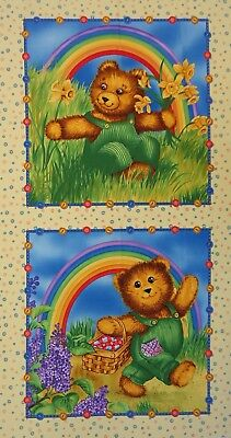 QUILT FABRIC CORDUROY TEDDY by TIMELESS TREASURES 100% COTTON FABRIC PANEL