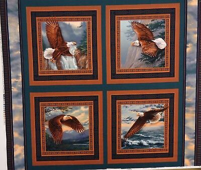 QUILT FABRIC WILD WINGS by ROSEMARY MILLETTE 100% COTTON FABRIC PANEL