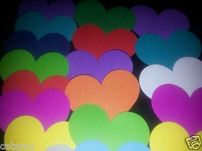 100 small hearts Scrapbooking /throws/Cardstock Paper Punches / Punchies