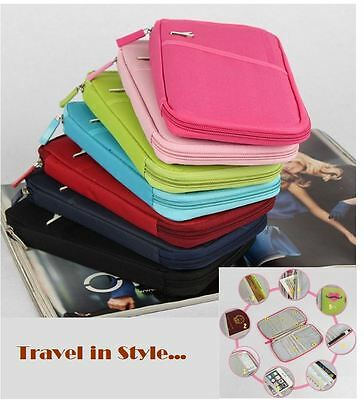 Travel Wallet Passport Holder Credit Card Document Organizer Bag Case Ticket