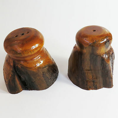 Vintage Mulga Wood, Wooden Handmade Salt & Pepper Shaker Set