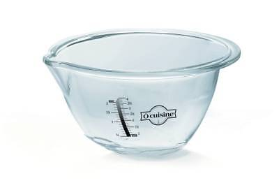 O'Cuisine Expert Mixing Bowl 30cm 4.2L Glass Dish Cooking Bakeware Cookware