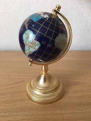 """Lovely Collectable 6"""" Tall gem stone globe"""