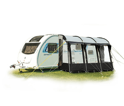 Royal Wessex 390 Caravan Lightweight Porch Awning Black
