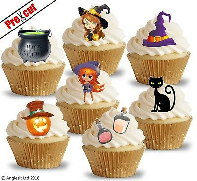 PRE-CUT Witch Witches Legs Edible Cupcake Toppers Decorations Halloween Party