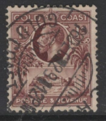GOLD COAST SG104 1928 1d RED-BROWN USED