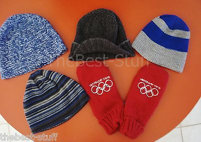 5 PC Lot Vancouver 2010 WINTER OLYMPICS Canada Red/Wht MITTENS L/XL & HAT lot