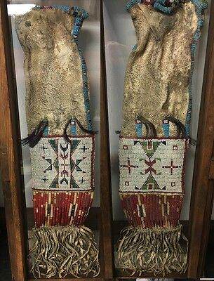 Native American Indian 1800s Beaded Quilled Tobacco Pipe Bag