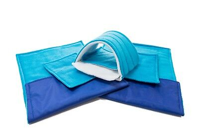 WATERPROOF Guinea Pig and small animal two fleece liners 80x44 turquoise SET 5