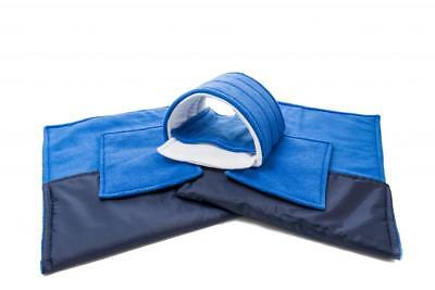 WATERPROOF Guinea Pig and small animal two fleece liners 100x54 royal blue SET 5