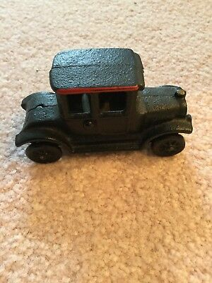 Vintage Arcade Cast Iron Ford Model A Coupe, 1920's Car Excellent Condition