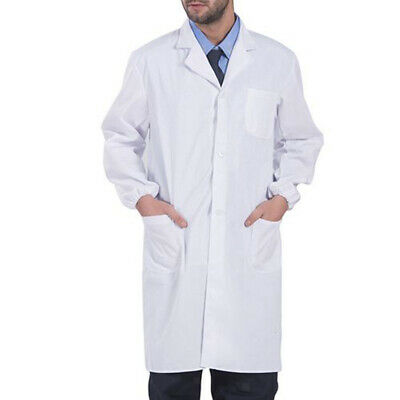 Cotton White Lab Coat Jacket Dr Doctor Hospital Warehouse Food Medical Uniform