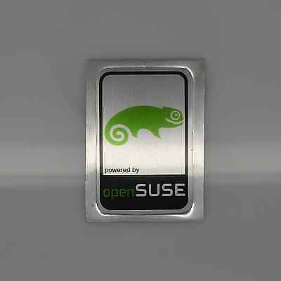 Powered by Open SUSE Linux Metal Decal Sticker Case Computer PC Laptop Badge