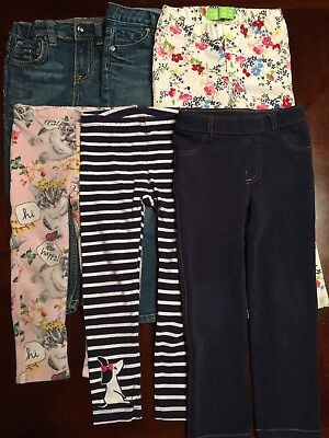 Lot of toddler girl Jeans, Jegging, Legging size. 4T 6 pieces
