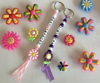 1 Personalised Handmade Best Teacher Keyring ,Bag Tag Any Name Party Bag  Filler