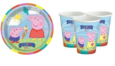 Peppa Pig Plates & Peppa Party Cups for 8 to 40 Guests - UK Party Supplier