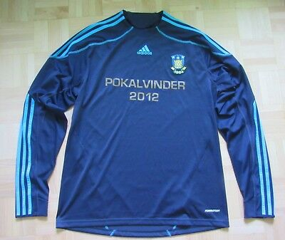 Brondby IF LONG SLEEVE Match Issue shirt jersey Adidas 2009-2010 adult SIZE L