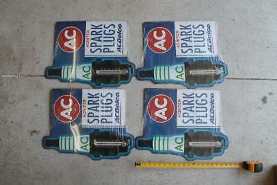 Lot Of 5 Ac Delco Spark Plugs Tin Sign Thermometer Man Cave Shop Auto Car Repair