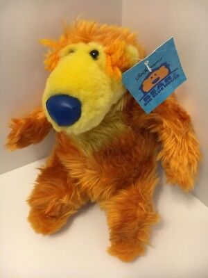 "Bear In The Big Blue House 8"" Plush BEAR Jim Henson by NANCO - EUC with tag"
